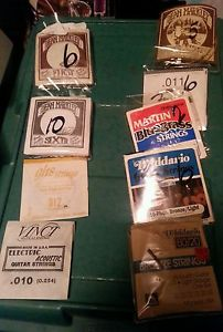 (38) assorted guitar strings
