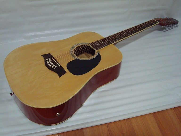 12 String Acoustic Electric Guitar /w 4 Band EQ – Natural