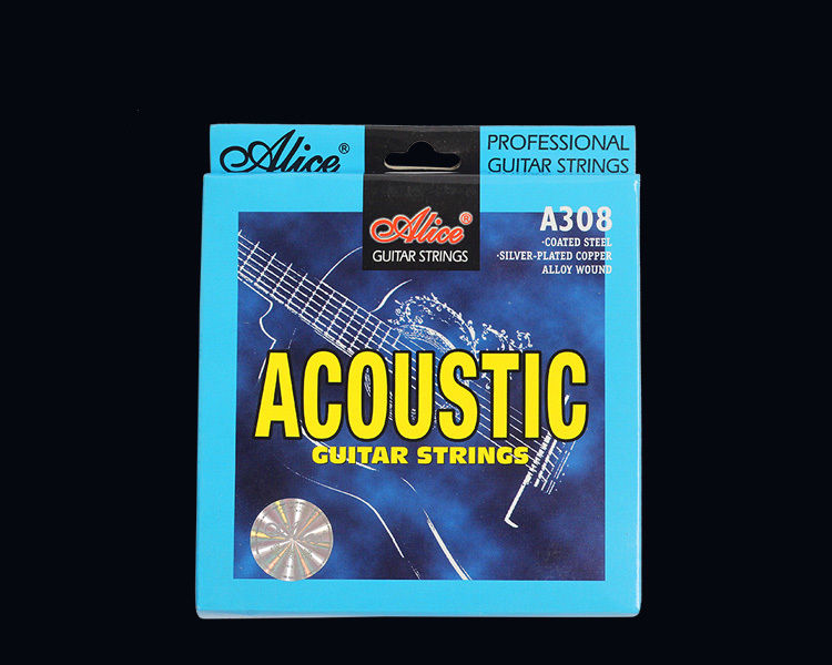 12 Sets A308 Super Light Silver-Plated Copper Alloy Acoustic Guitar Strings