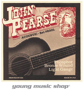12 SETS JOHN PEARSE 600L ACOUSTIC GUITAR STRINGS LIGHT GAUGE 12-53