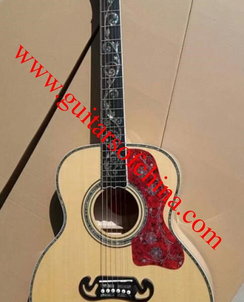 Chibson sj 200 acoustic guitar vine inlays custom shop 1