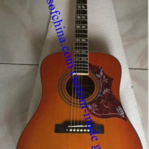 custom made chibson acoustic hummingbird guitar (1)