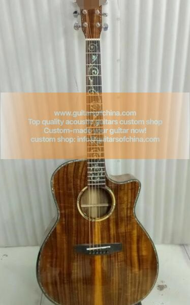 All KOA custom made acoustic guitar all solid koa k24ce 1