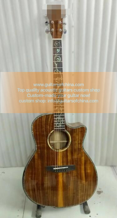 All KOA custom made acoustic guitar all solid koa k24ce