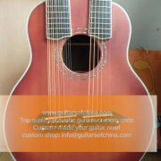 High-end customized double neck all solid wood guitar top quality (1)