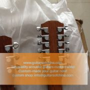 High-end customized double neck all solid wood guitar top quality (11)