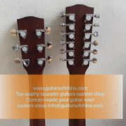 High-end customized double neck all solid wood guitar top quality (2)