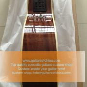 High-end customized double neck all solid wood guitar top quality (9)