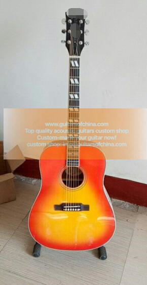 custom-made chibson hummingbird acoustic guitar