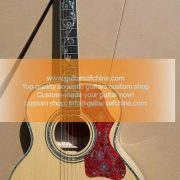 custom-made chibson sj-200 vine inlays j 200 guitar all solid (4)