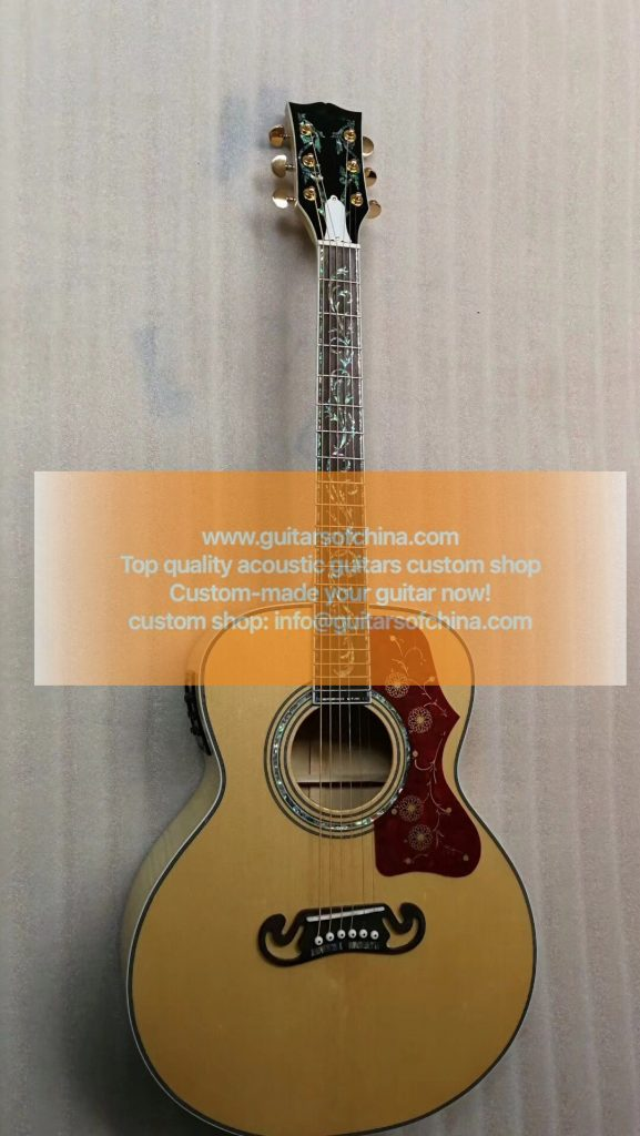 custom-made chibson sj200 vine inlays natural sj-200