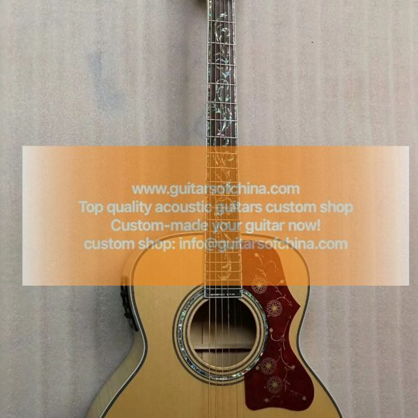 custom-made chibson sj200 vine inlays natural sj-200 (2)