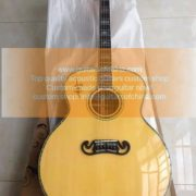 custom-made jumbo j 200 sj200 acoustic guitar all massive wood (5)