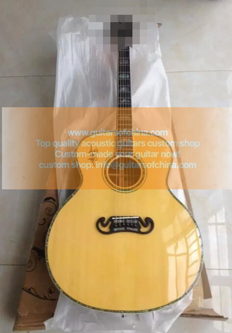 custom-made jumbo j 200 sj200 acoustic guitar all massive wood