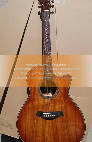 custom-made solid KOA top chaylor k24ce natural guitar 1
