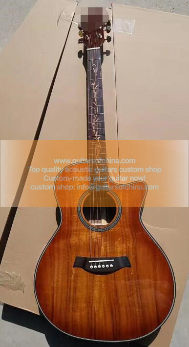 custom-made solid KOA top chaylor k24ce natural guitar