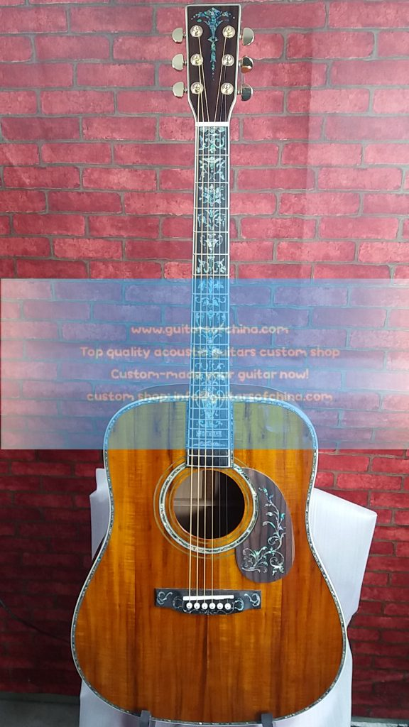 customized Martin D45 dreadnought solid koa luxurious D-45