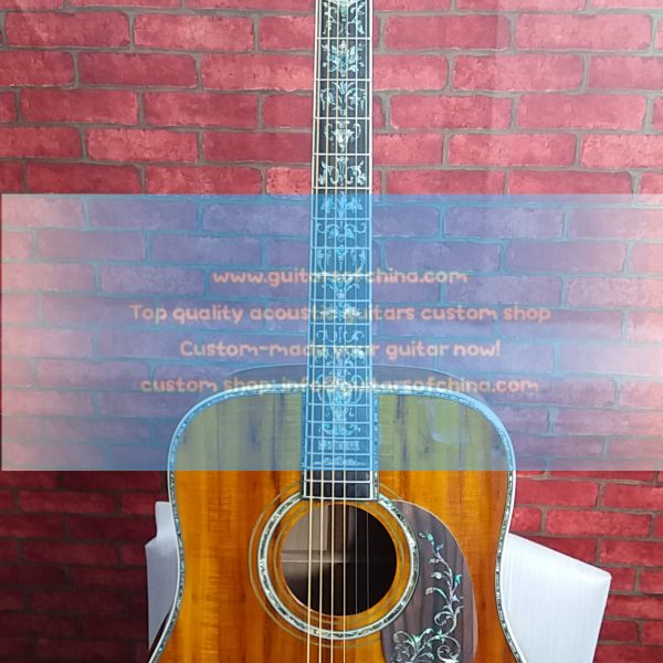customized Martin D45 dreadnought solid koa luxurious D-45 15