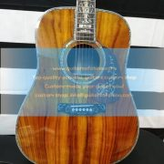 customized Martin D45 dreadnought solid koa luxurious D-45 (6)