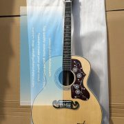 customized chibson sj-200 sj200 super jumbo type acoustic guitar all solid 3