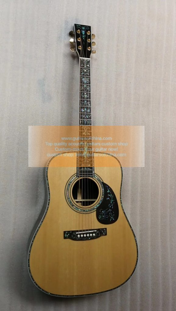 top quality custom-made Martin D 45 deluxe abalone inlays